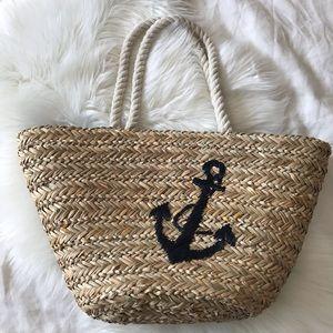 World Market // Rattan Anchor Beach Bag